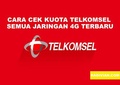 Cara Cek Kuota Telkomsel 4G