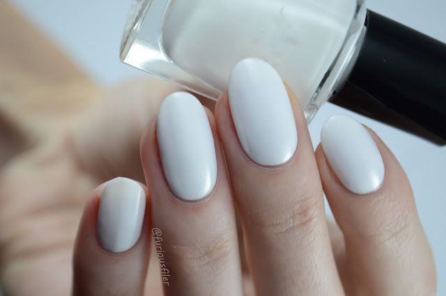 Annika white swan swatch the edge nails