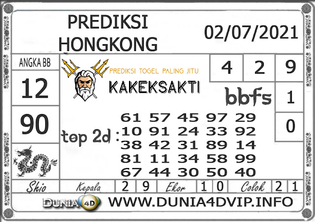 Prediksi Togel HONGKONG DUNIA4D 02 JULI 2021