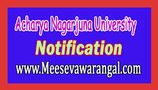 Acharya Nagarjuna University B.Ed Regular 2016 Exam Notification