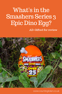 What's in the Smashers series 3 epic dino egg review and picture of egg