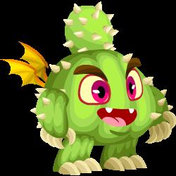 Das Erscheinen des Baby Kaktus-Drache
