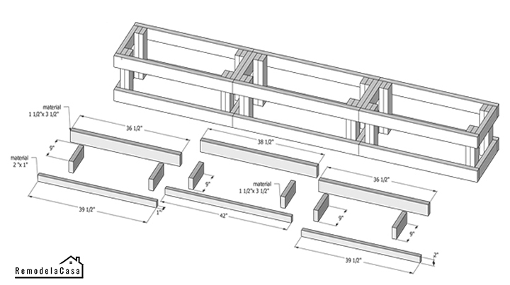 free plans for a banquette bench
