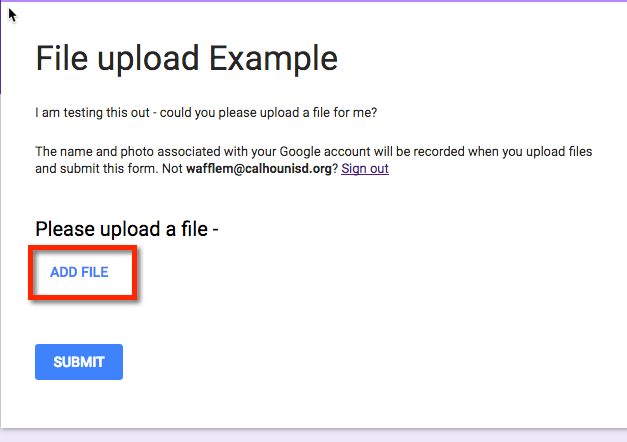 Getting File Uploads in Your Google Form