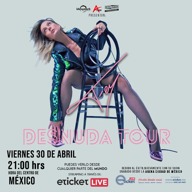 """Fey celebra 26 años de carrera presentando en streaming """"Fey Desnuda Tour"""""""