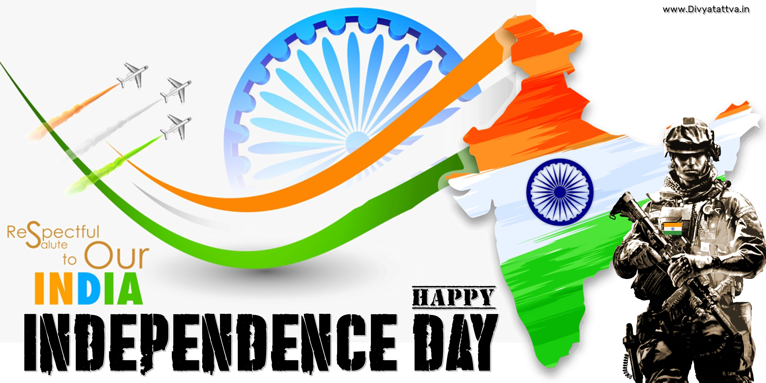 Happy Independence Day 15th Aug India Greetings Messages & Wallpapers