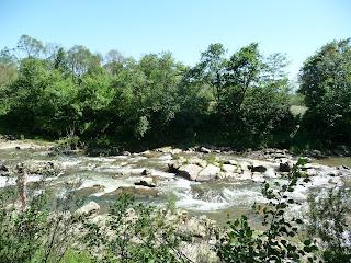 Пороги на реке Мизунка. Ивано-Франковская область