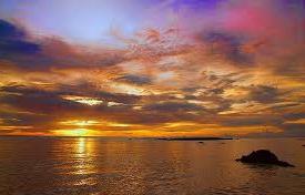 foto Sunset di Sukabumi
