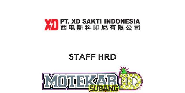 Lowongan Pekerjaan STAFF HRD PT. XD SAKTI INDONESIA