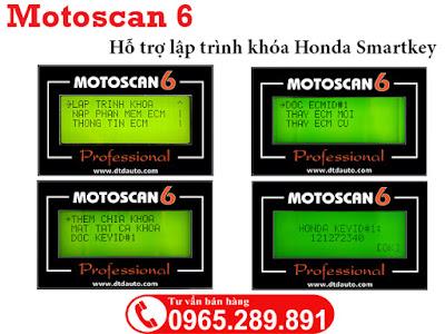 Motoscan 6 hỗ trợ lập trình Honda Smarkey
