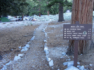 Beginning of hike at Windy Gap trailhead, Crystal Lake, Angeles National Forest