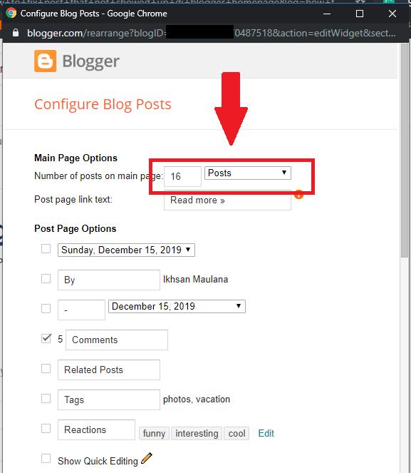 setting jumlah artikel blogger