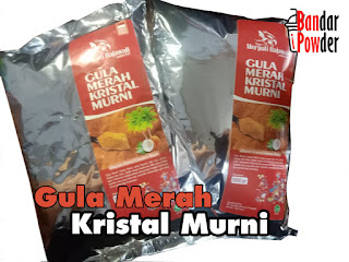 Bubuk Gula Aren Organik 1kg - Brown Sugar Kristal murni - Bandar Powder
