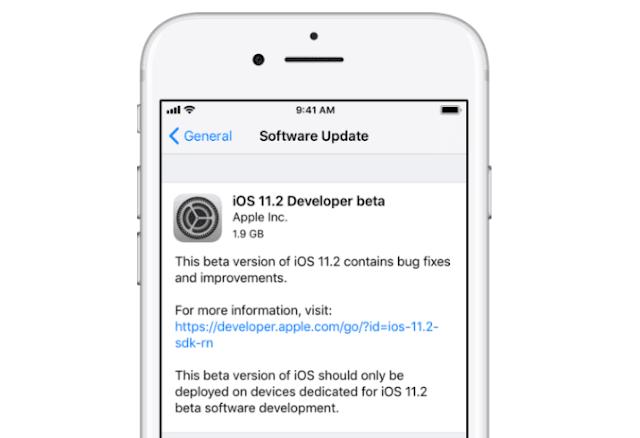 ابل تطلق iOS 11.2 Beta 1 للاختبار