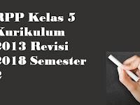 RPP Kelas 5 Kurikulum 2013 Revisi 2018 Semester 2
