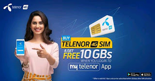 MY TELENOR APP-GET FREE 10GB FOR A WEEK ON REGISTRING YOUR TELENOR NUMBER
