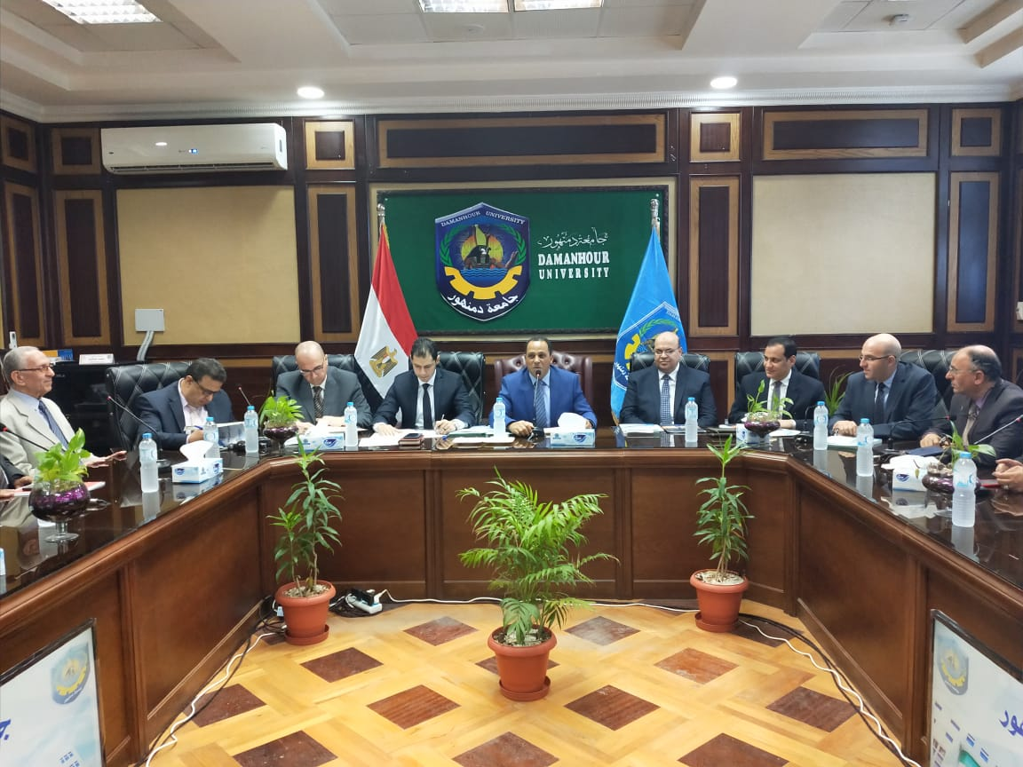 بالصور .. لجنة تقييم الجامعات المصرية تتفقد جامعة دمنهور
