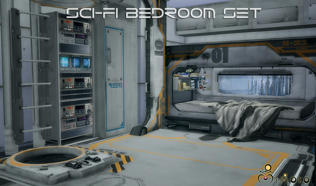 TS2 Sci Fi Bedroom Set Conversion by Mimoto. My Sims 4 Blog  TS2 Sci Fi Bedroom Set Conversion by Mimoto