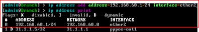 Pengaturan IP Address Router Branch
