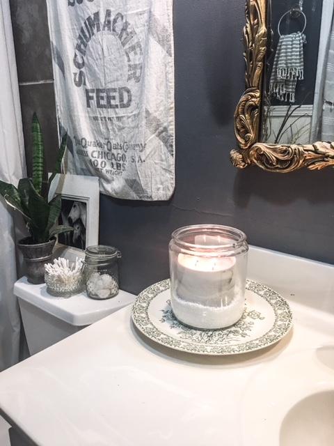 epsom salt bathroom candle holder