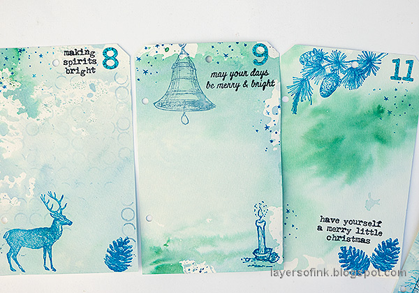 Layers of ink - December Countdown Calendar Tutorial by Anna-Karin Evaldsson.