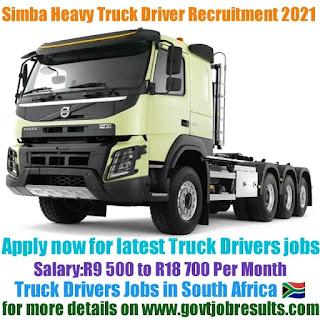 Simba Heavy Truck Driver Recruitment 2021-22
