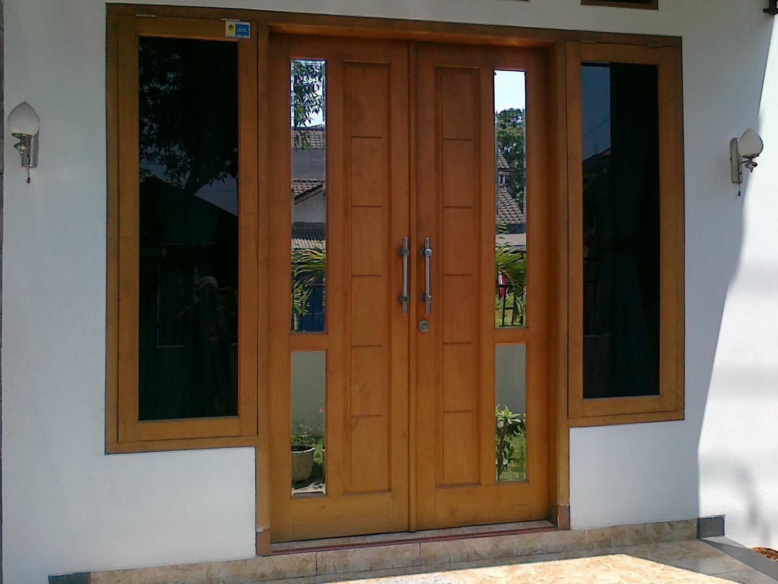 Pintu Rumah Minimalis Kusen Pintu Rumah Utama Pintu Jati Jepara Df 0700