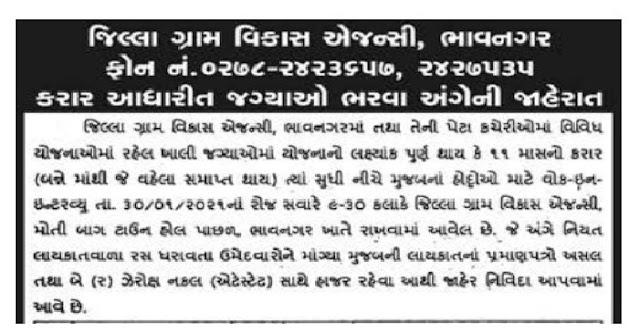DRDA Bhavnagar Recruitment for Various Posts 2021