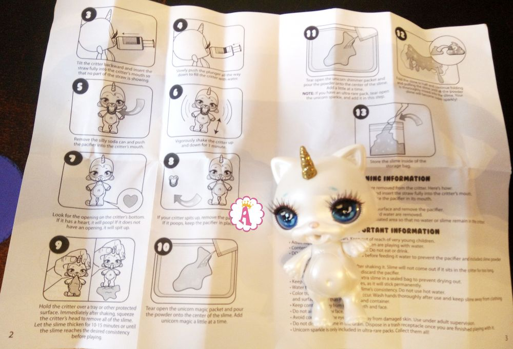 Инструкция Poopsie Sparkly Critters Series 1