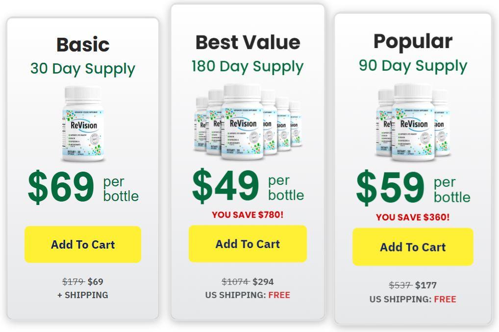 ReVision Eye Supplement Best Price