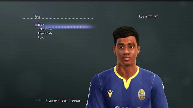 PES 2013 Eddie Salcedo Face and Hair