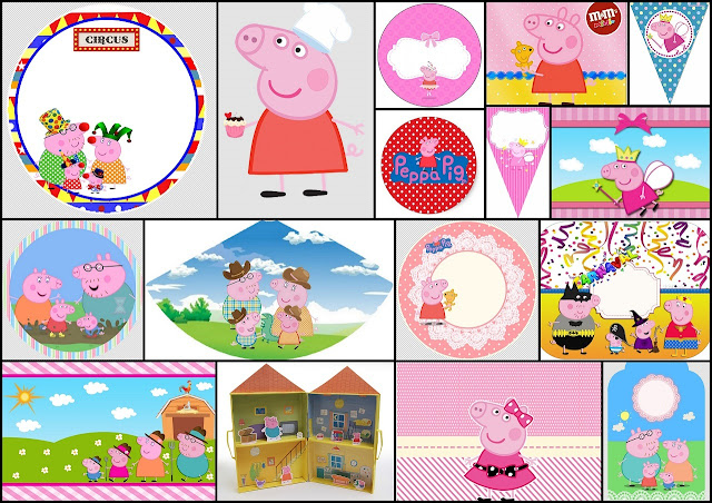 Peppa Pig Free Printable Centerpieces Oh My Fiesta In English