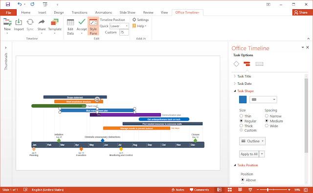 Screenshot Office Timeline Plus 3.63.07.00 Full Version