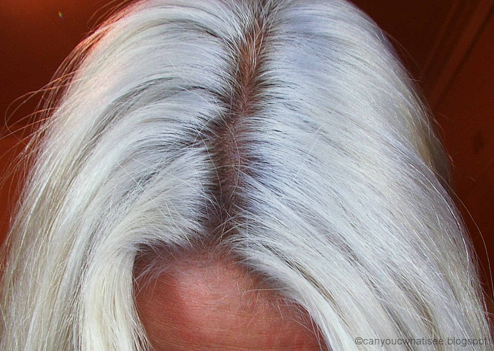 Hair After Toning And Fully Dried The Grey Purple Dries To A Pretty Silver White