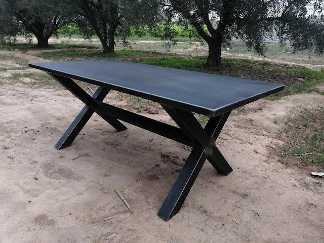 table de style mobiliers industriels