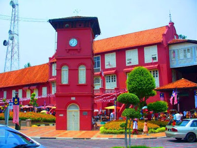 Melaka Clock Tower bandar hilir melaka