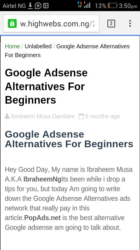 Google Adsense Alternatives For Beginners