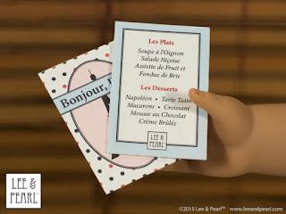 Free American Girl menus