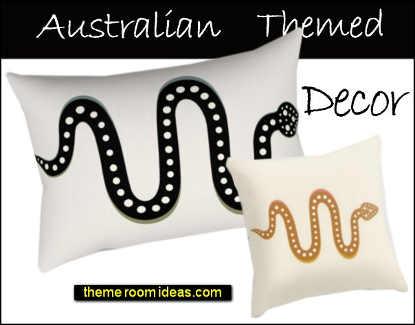 australian themed decor aussie decorating aboriginal art print pillows