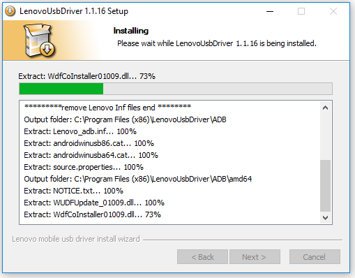 Lenovo USB Drivers Installation Process