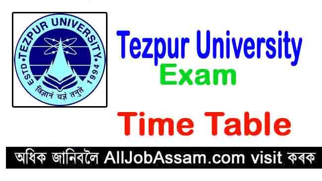 Tezpur University Time Table 2020
