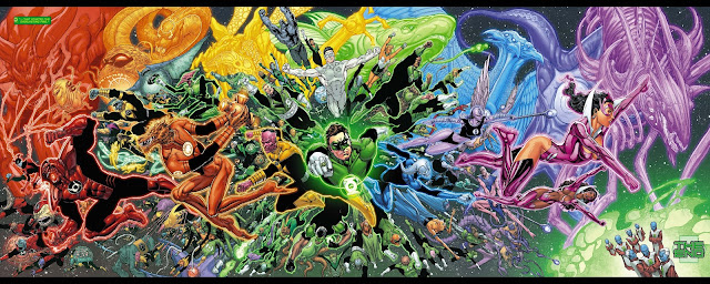 Green Lantern Splash Page