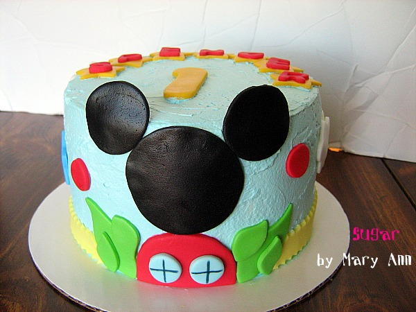 Mickey Mouse Clubhouse Smash Cake For A 1st Birthday