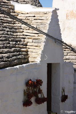 Alberobello - Particolare di un trullo