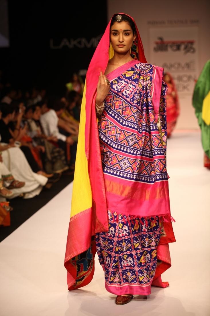 Beautiful Patan Patola Saree by Gaurang Shah  Tikli