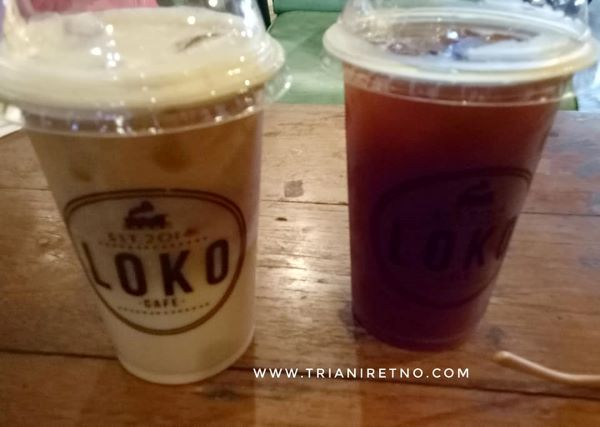 Kopi susu dan americano di loko coffee shop yogyakarta