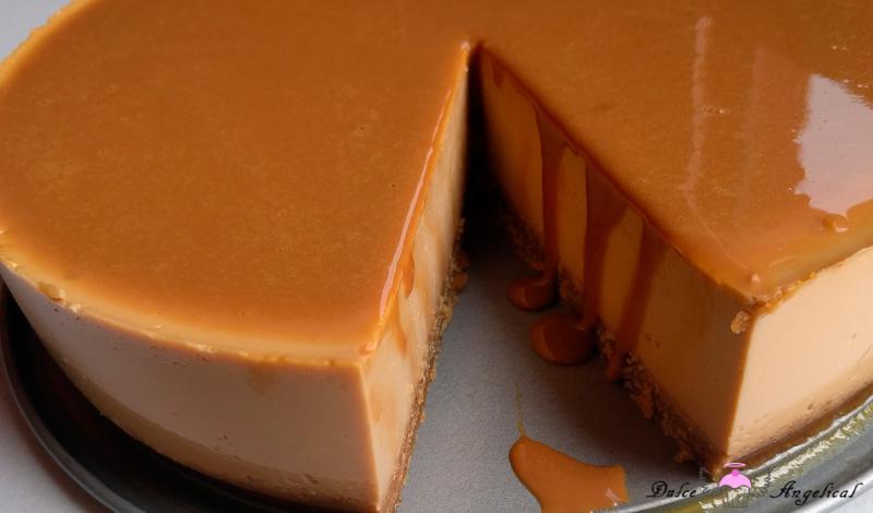 Receta de la Tarta de queso con dulce de leche sin horno