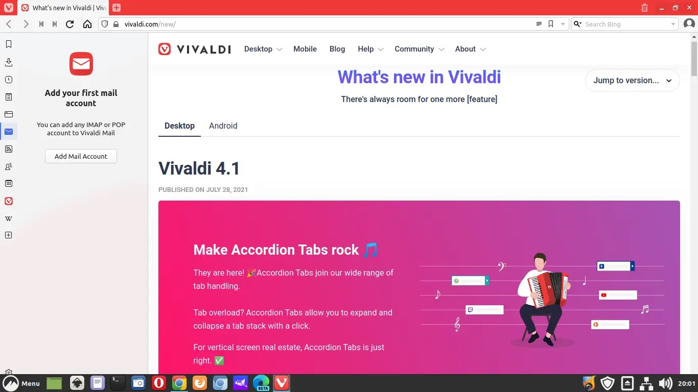 Cara Install Browser Vivaldi di Linux Mint