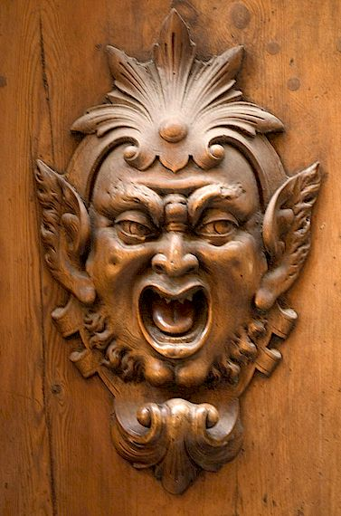 Tuscany door wood carving