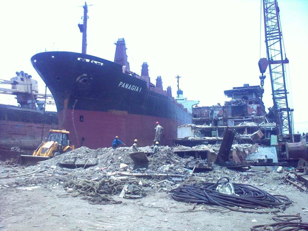 تقطيع السفن بالهند